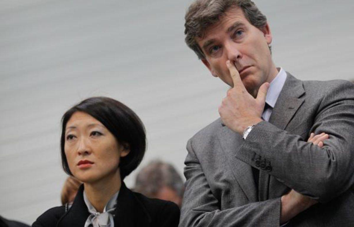 Fleur Pellerin, ministre deleguée aux PME et Arnaud Montebourg, ministre du Redressement productif. – Fabrice Elsner / 20 MINUTES