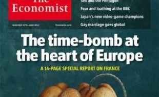 La unede The Economist du 17 novembre 2012, considérant la France comme la bome à retardement de la zone euro
