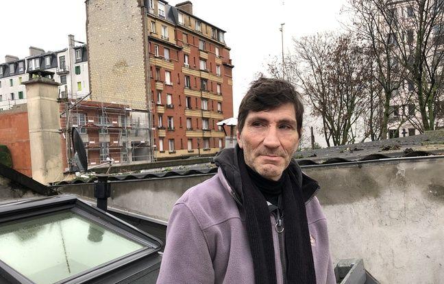 Jean-Michel, 60 ans, est sans domicile fixe. Ici à Gennevilliers, le 27/01/2020
