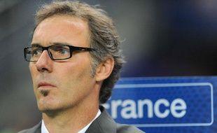 Laurent Blanc, le sélectionneur de l'équipe de France, le 7 octobre 2011, au Stade de France, contre l'Albanie.