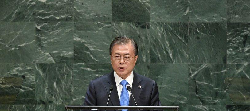 Le président sud-coréen Moon Jae-in lors de l'Assemblée générale des Nations unies à New York, le 24 septembre 2019.