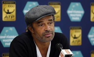 Le capitaine de l'équipe de France de Coupe Davis Yannick Noah.