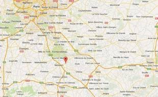 Google map de Nonville en Seine-et-Marne