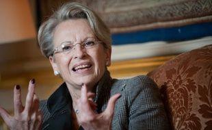 La ministre des Affaires étrangères Michèle Alliot-Marie au Quai d'Orsay, le 04 janvier 2011.