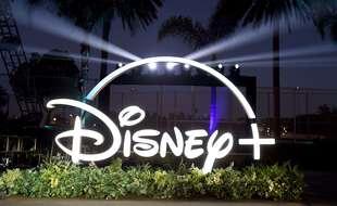 Le logo de Disney+, à Los Angeles le 12 octobre 2020.