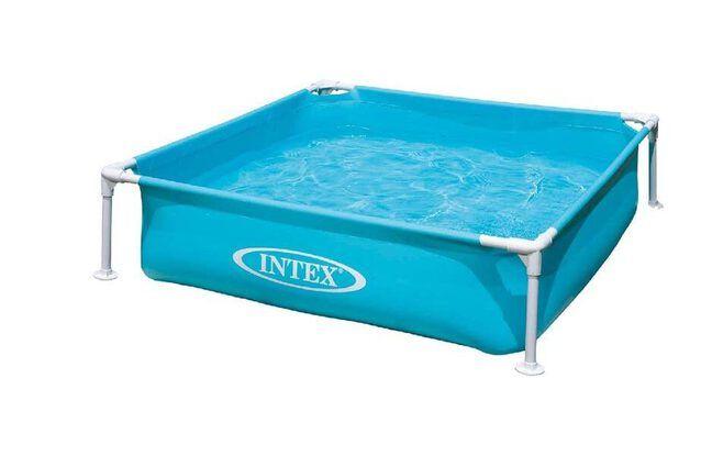 Piscine enfant Intex piscinette acidulée carrée