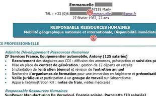 Le CV d'Emmanuelle