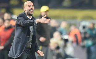 Pep Guardiola lors du match entre le Bayern Munich et le Borussia Dortmund le 5 avril 2014.