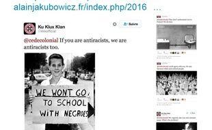 La Licra a publié des faux tweets du Ku Klux Klan.
