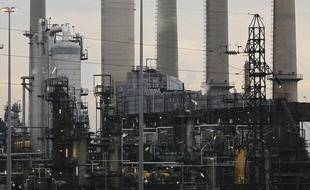 Les raffineries de la vallée de la chimie de Feyzin. Lyon, le 8 octobre 2012. CYRIL VILLEMAIN/20 MINUTES