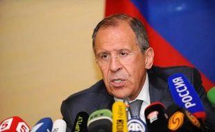 Le ministre russe des Affaires étrangères, Sergueï Lavrov, le 17 avril 2014 à Genève