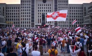 Manifestation à Minsk le 18 août 2020