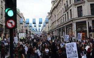 Manifestation des Black Lives Matter à Londres, le 12 juillet 2016.