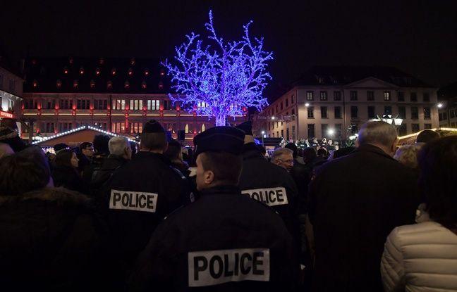 Les illuminations de Noël. Strasbourg le 25 novembre 2016. AFP PHOTO / PATRICK HERTZOG