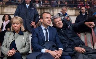Emmanuel Macron et Philippe de Villiers au Puy du Fou, le 19 août 2018.