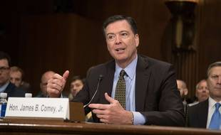Le directeur du FBI James Comey lors d'une audition au Sénat américain, le 3 mai 2017.