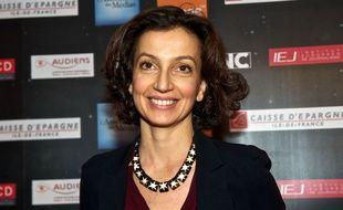 Audrey Azoulay, alors Directrice générale déléguée du CNC lors de l'Assemblée des médias le 2 décembre 2013