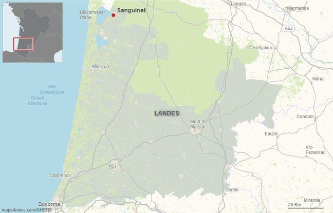 La commune de Sanguinet dans les Landes.