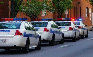 Des voitures de police américaine. Illustration.