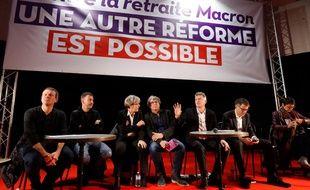 Plusieurs responsables de gauche étaient réunis à Saint-Denis contre la réforme des retraites.