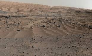 Panorama martien photographié par Curiosity.