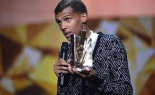 Le chanteur Stromae, qui a remporté trois trophées aux Victoires de la musique, le 14 février 2014.