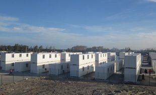 Les conteneurs d'hébergement provisoires à Calais, en octobre 2016