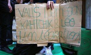 Manifestation de lycéens à Paris le 17 septembre 2013