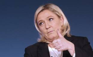 Marine Le Pen, présidente du FN, le 27 novembre 2015 à Nice.