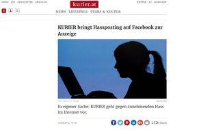 Le journal «Kurier» a porté plainte contre un message posté sur sa page Facebook pour souhaiter la noyade de jeunes réfugiés apprenant à nager en Autriche