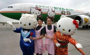 La compagnie taiwanaise EVA propose des vols à bord de son avion .