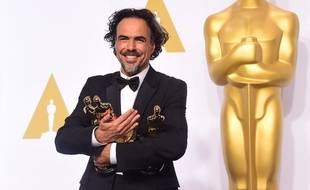 "Director Alejandro Gonzalez Inarritu, winner for the Best Picture award for ""Birdman"" poses in the press room during the 87th Oscars on February 22, 2015 in Hollywood, California. AFP PHOTO / FREDERIC J. BROWN"