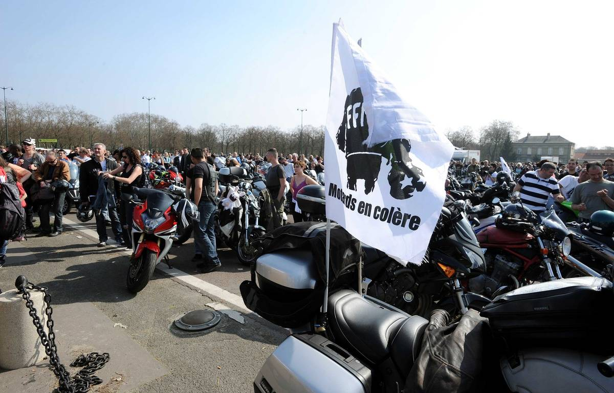 Les motards en colère devraient être nombreux ce dimanche devant le château de Vincennes. – URMAN LIONEL/SIPA