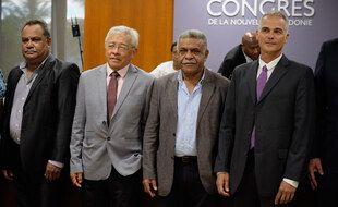 Les nouveaux membres indépendantiste du 17e gouvernement de Nouvelle-Calédonie.