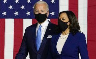Joe Biden et Kamala Harris, à Wilmington le 12 août 2020.