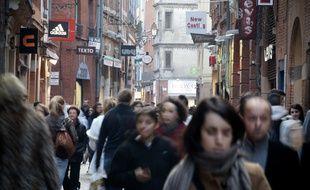 Dans les rues de Toulouse. Illustration
