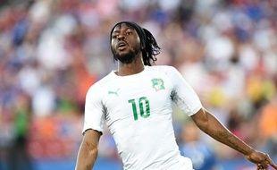 Gervinho lors d'un match amical entre la Côte d'Ivoire et le Salvador le 4 juin 2014.
