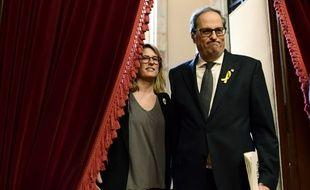 Quim Torra, au Parlement catalan, le 14 mai 2018.