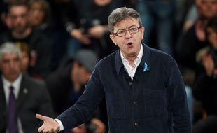 Jean-Luc Mélenchon, candidat de La France insoumise, a tenu un meeting à Deols dimanche 2 avril 2017.