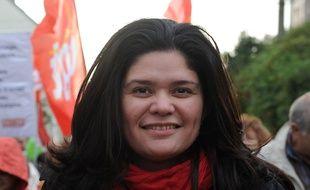 Raquel Garrido lors d'une manifestation en Bretagne, en novembre 2013.