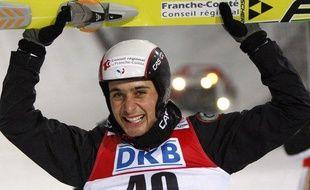Le spécialiste français du combiné nordique, Jason Lamy-Chapuis, à Liberec, en République tchèque, le 20 février 2009.