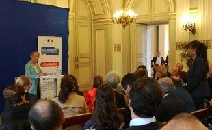 Elisabeth Borne, à Toulouse le 17 mai, lors de la rencontre avec les citoyens pour les un an du gouvernement.
