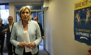 Marine Le Pen, présidente du Front national au siège du parti à Nanterre, le 9 novembre 2016