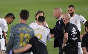 Zinédine Zidane lors de Real Madrid-Valence, le 18 juin 2020.