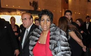 La chanteuse soul Aretha Franklin à Washington