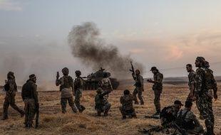 Des soldats turcs à Manbij, en Syrie, près de la frontière avec la Turquie, le 14 octobre 2019.