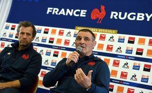 Raphaël Ibañez et Fabien Galthié en conférence de presse le 30 janvier 2020.