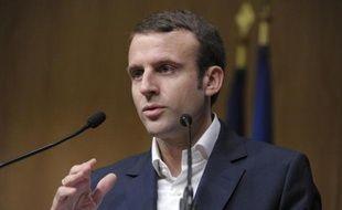 Le ministre de l'Economie Emmanuel Macron le 23 janvier 2015 à Paris