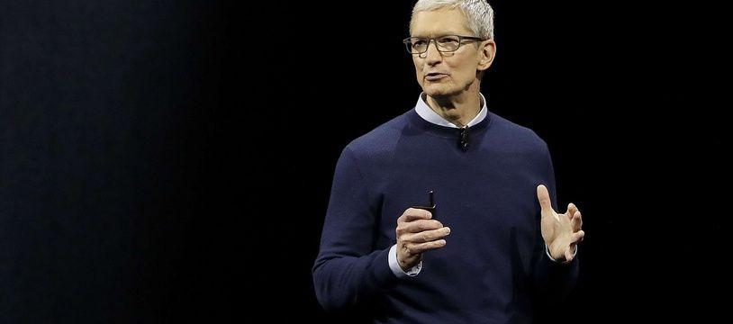 Le patron d'Apple, Tim Cook, le 5 juin 2017.