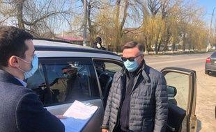 Arrestation de Leonid Kojara le 25 mars 2020 à Kiev.